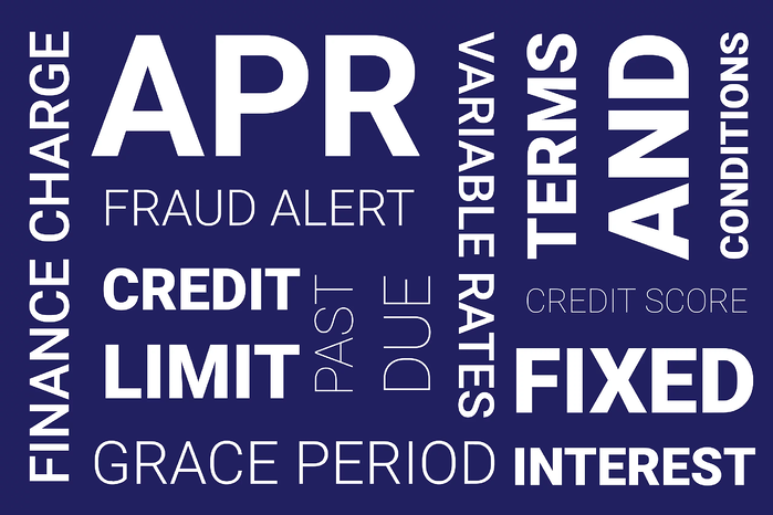 credit card glossary from 1st Financail Bank USA