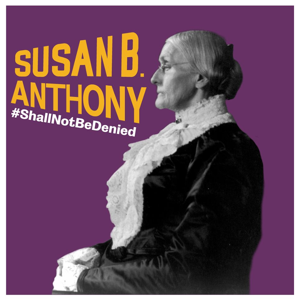 Susan B. Anthony #ShallNotBeDenied 1st Financial Bank USA