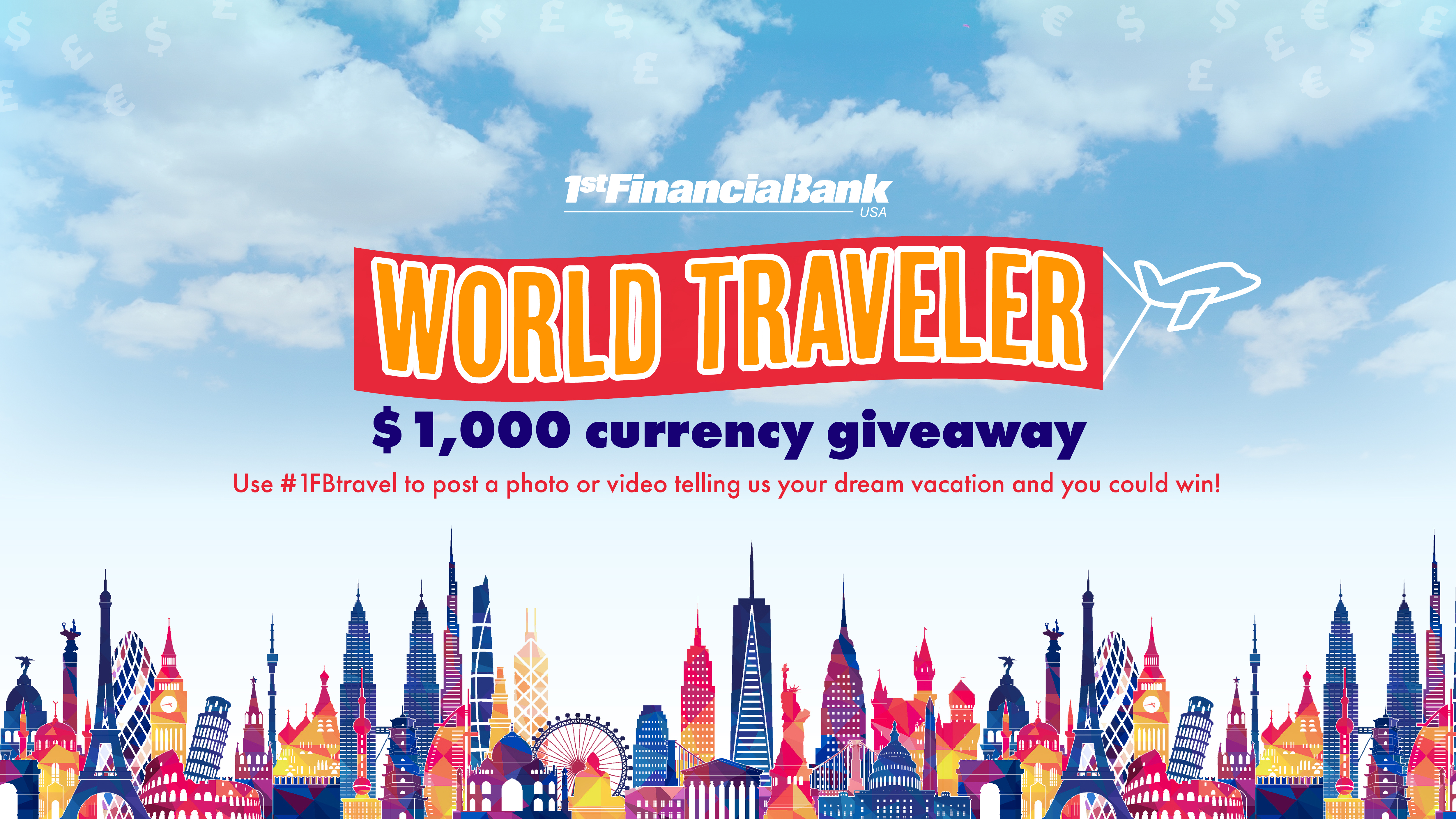 World traveler $1,000 currency giveaway