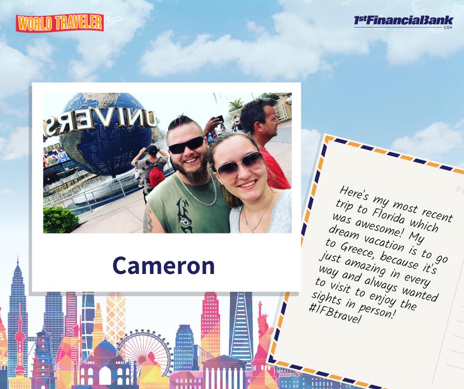 cameron world traveler winner