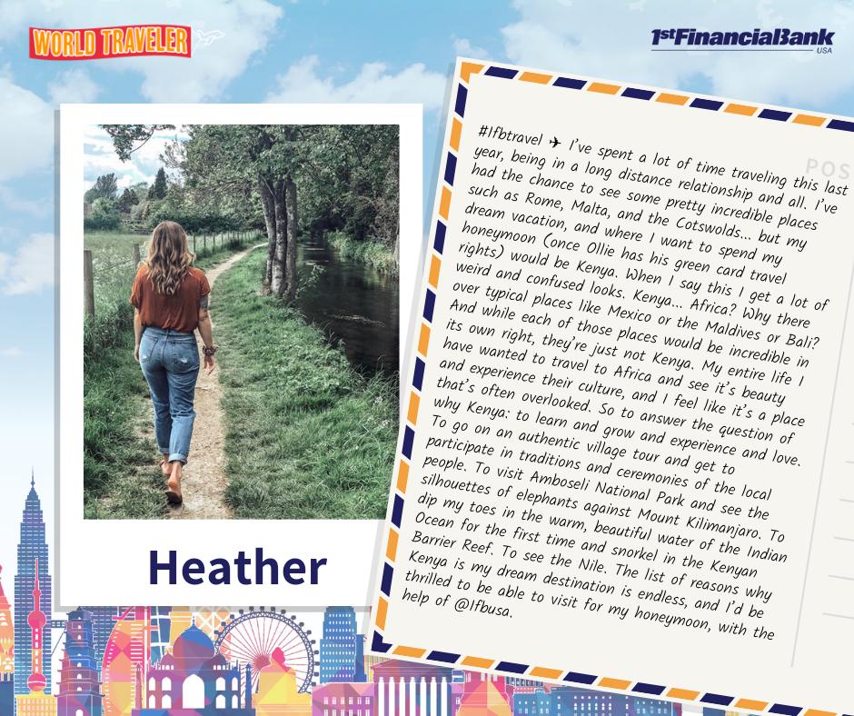 heather world traveler winner