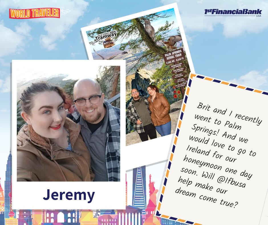 Jeremy world traveler winner