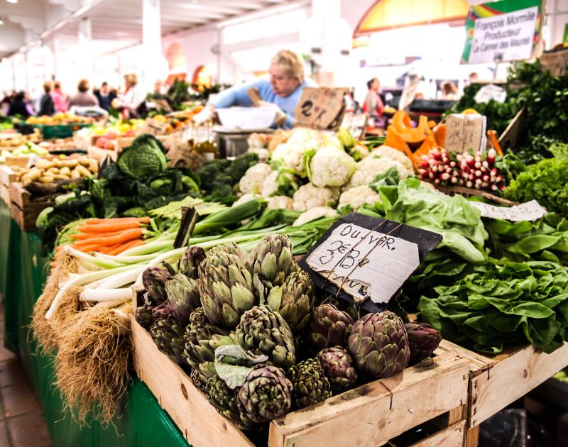 Fresh produce that is in season