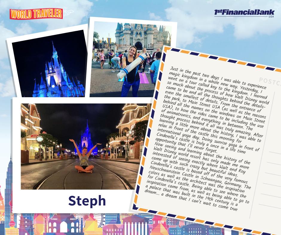 Steph's story; world traveler winner