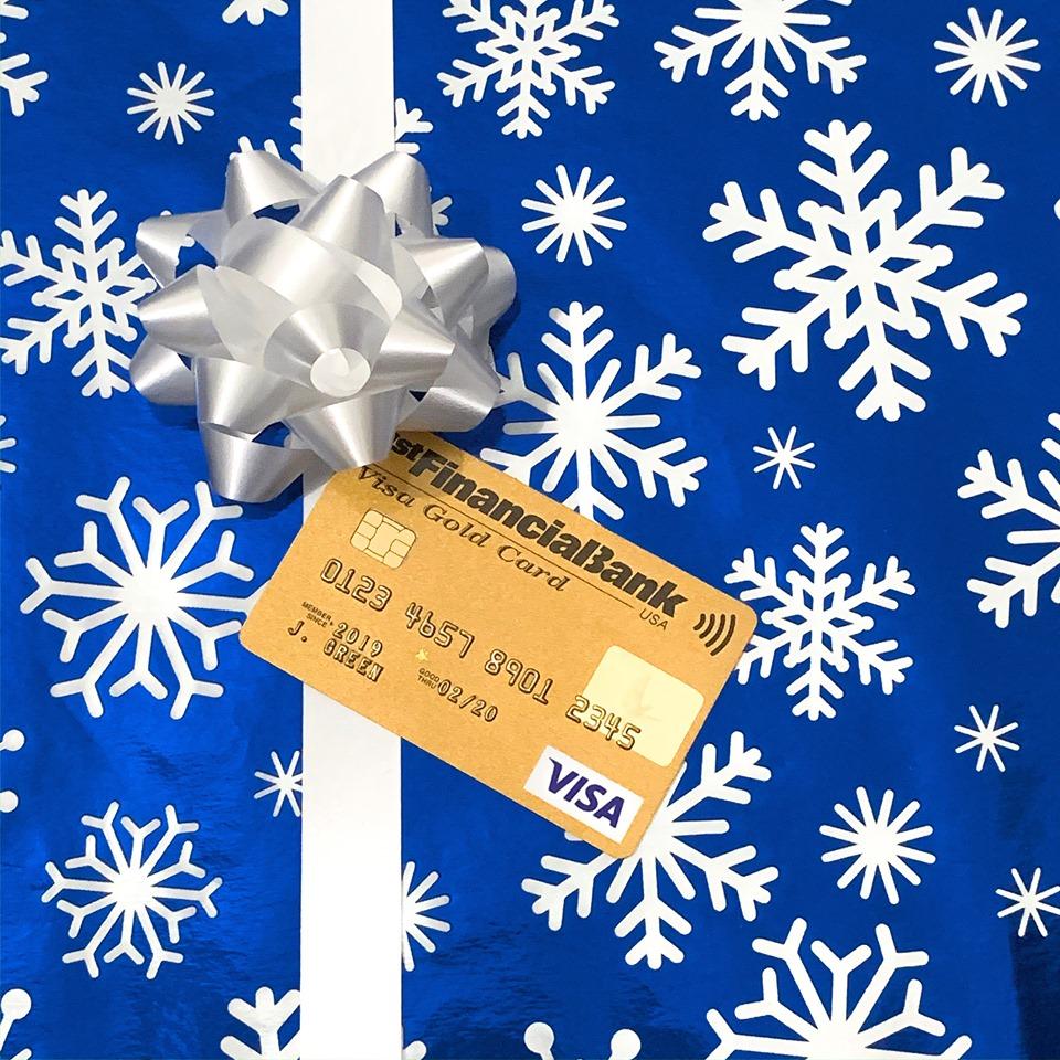 1st Financial Bank USA card bow