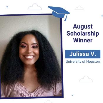 Julissa Financial Goals Scholarship winner Agugust