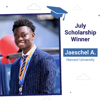 July scholarship winner