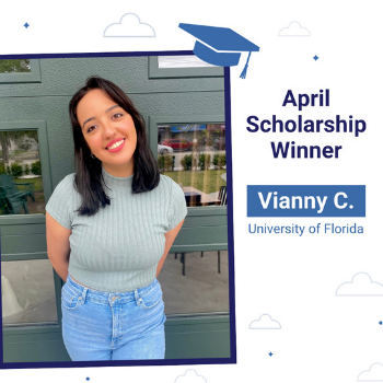 Scholarship winner Vianny