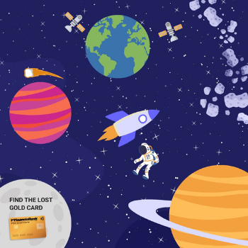 lost gold card in space